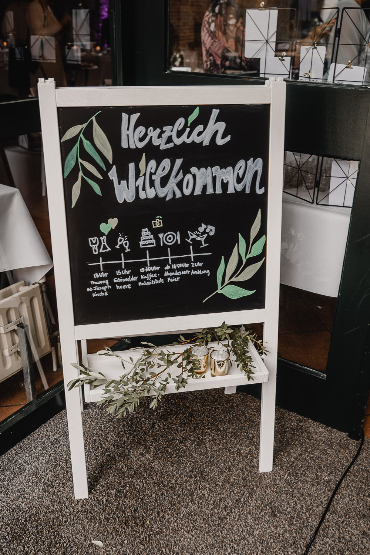 Hochzeit Aufsteller Willkommen
