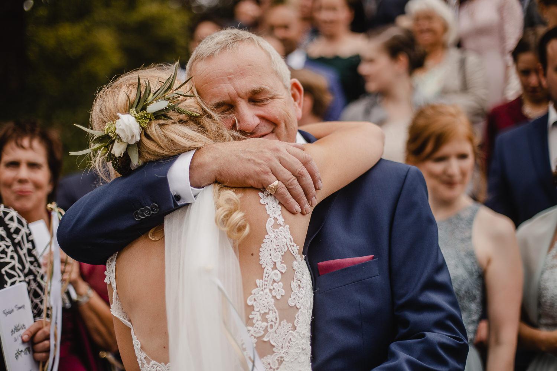Gratulation Hochzeit echte Emotionen
