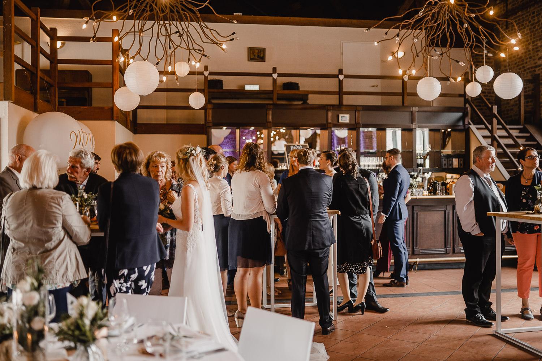 Hochzeit Schinvelder Hoeve Sektempfang