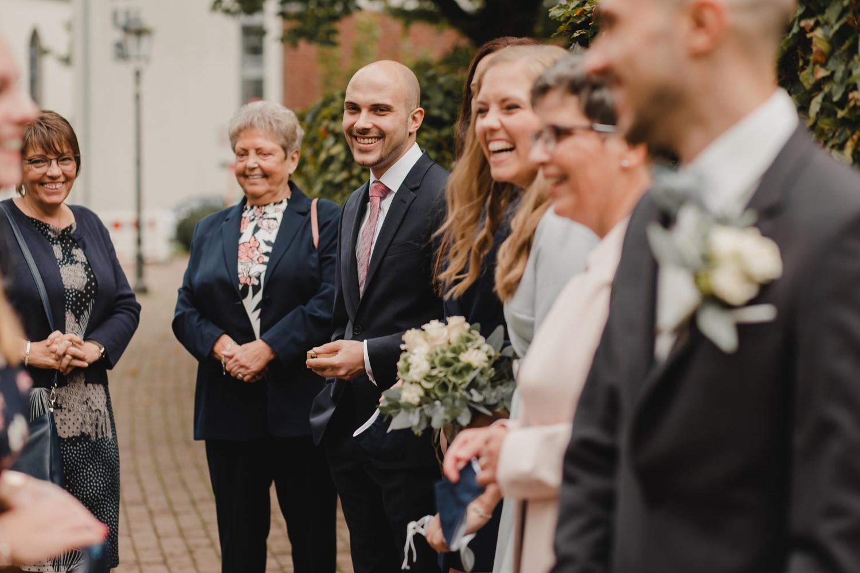 Gäste vor der Hochzeit Haus Spiess Erkelenz